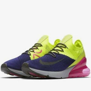 Nike Air Max 270 Flyknit Running Shoes AO1023 501